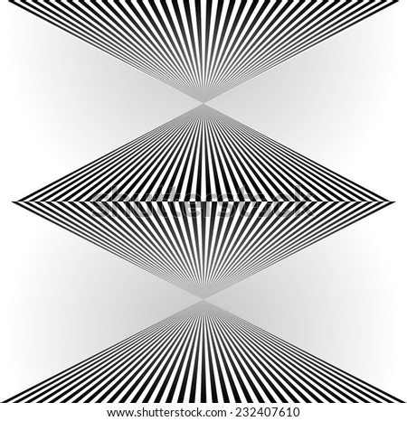 Stripes abstract shape - stock vector
