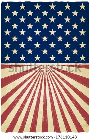 stripes and stars old background - vector illustration - stock vector