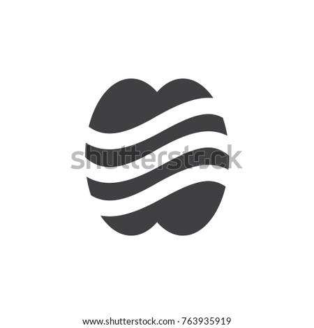 Stripes Apple Symbol Logo Vector Stock Vector 763935919 Shutterstock