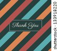 stripes seamless pattern background vector, thank you card - stock vector