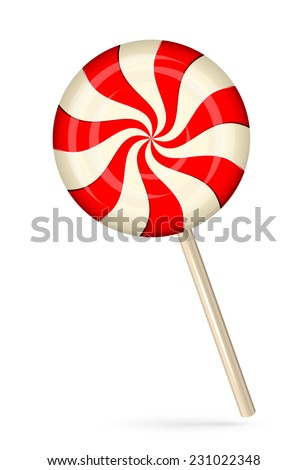 Stripped candy isolated on white background, illustration. - stock vector