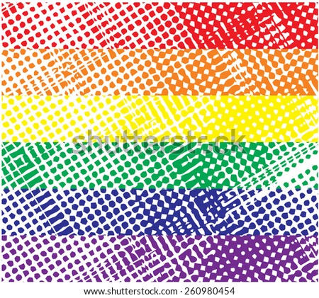 Strips halftone with different colors. An abstract grunge background with halftone effect. vector (new style out of the ordinary geometric effect halftone). - stock vector