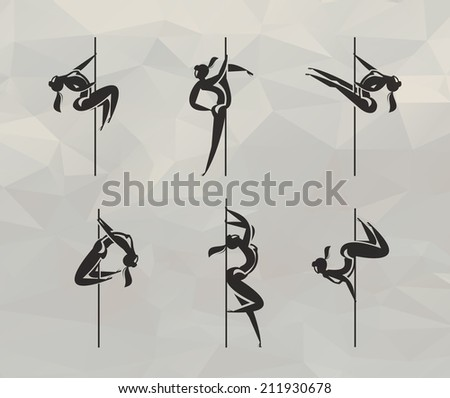 Striptease icons. Vector format - stock vector