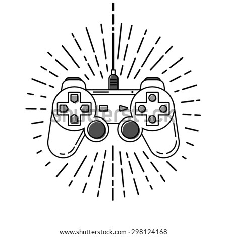 Stroke Gamepad Vector  Layered EPS 10 100% Vector Easy to edit Fully resizable  - stock vector