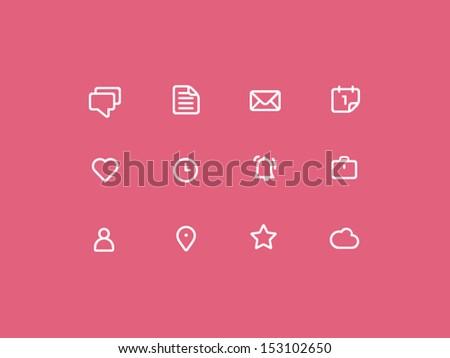 Stroke Web Icon - stock vector