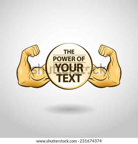 Strong and Powerful - stock vector