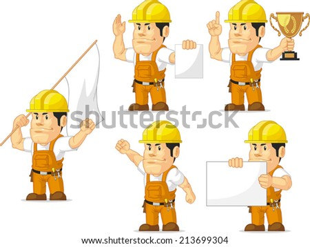 Strong Construction Worker Mascot 9