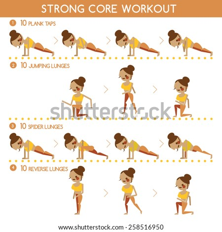 Core workout women's