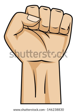 strong hand - stock vector