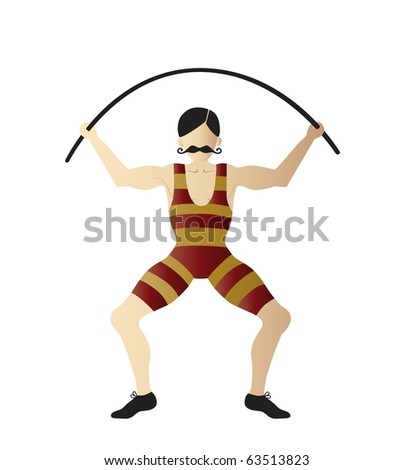 strongman - stock vector