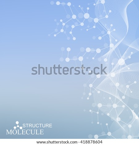 Structure molecule and communication Dna, atom, neurons. Science concept for your design. Abstract round form. Medical, technology, chemistry, science background. Vector illustration - stock vector