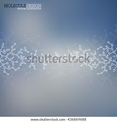 Structure molecule of DNA and neurons. Structural atom. Genetic and chemical compounds. Medicine, science and technology concept. Geometric abstract background. Vector illustration for your design. - stock vector