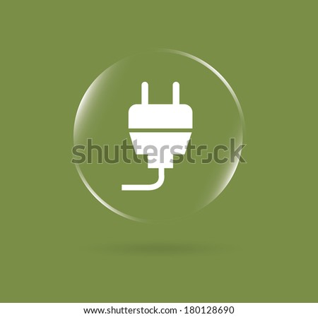 stuck energy design over green background vector illustration - stock vector