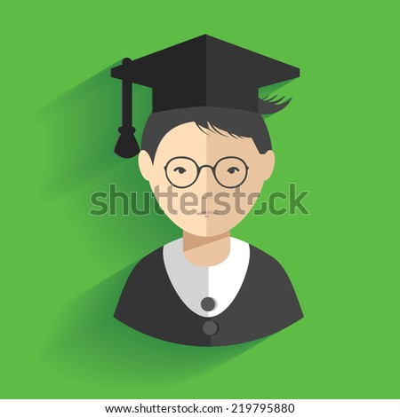 Student design,clean vector - stock vector