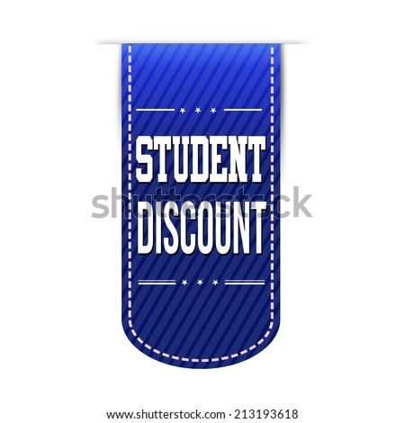Student discount banner design over a white background, vector illustration