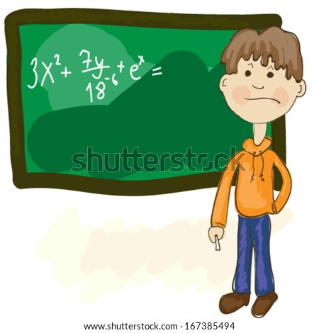 Student in trouble - stock vector