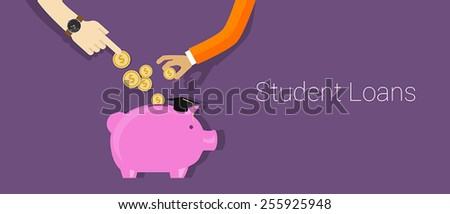 Student Loans - stock vector