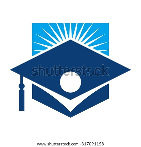 student logo. graduation logo. - stock vector