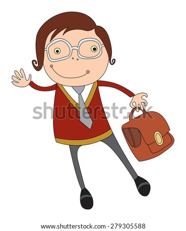 student or schoolboy in glasses. vector illustration for your design, brochures and promotional items. - stock vector