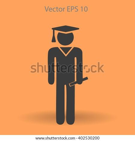 student vector icon - stock vector