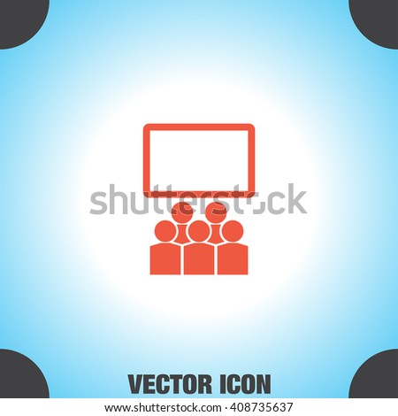 Students in Classroom vector icon