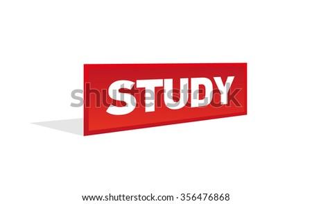 STUDY - stock vector