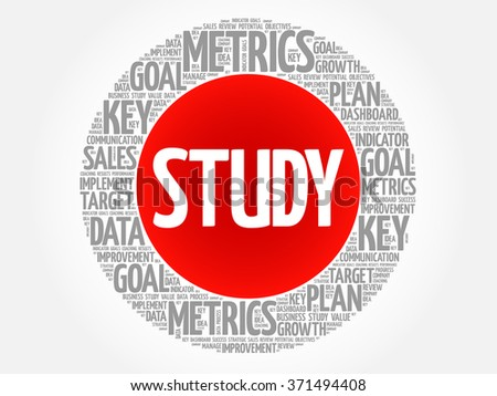 Study circle word cloud, business concept background - stock vector