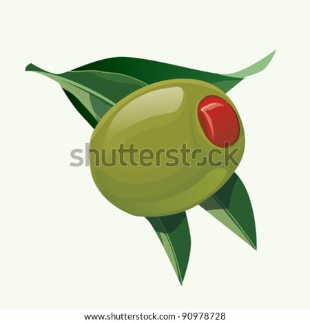 Stuffed olives. EPS10 - stock vector