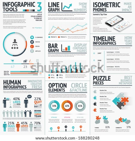 Stunning infographic elements vector set for your projects to make an impact - stock vector