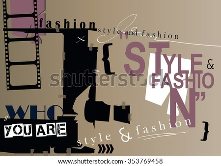 STYLE and FASHION word cloud concept. Vector illustration - stock vector