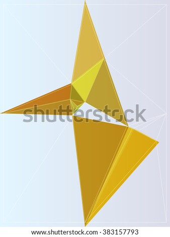 style color polygon pattern design element vector