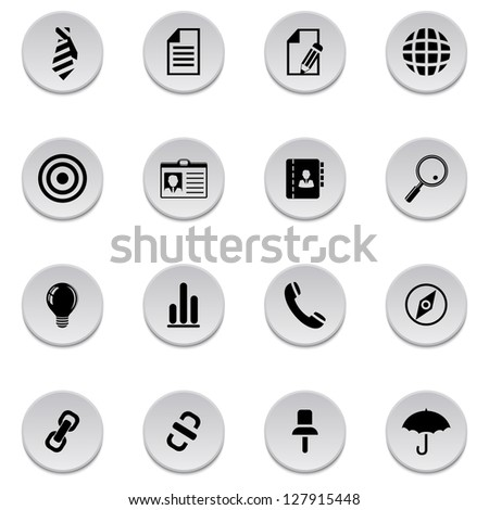 Style icons - stock vector
