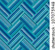 Style Seamless Blue White Color Knitted Pattern from my large Collection of Samples of knitted Fabrics - stock vector