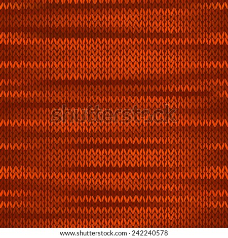 Style Seamless Knitted Melange Pattern. Brown Red Orange Yellow Color Vector Illustration - stock vector