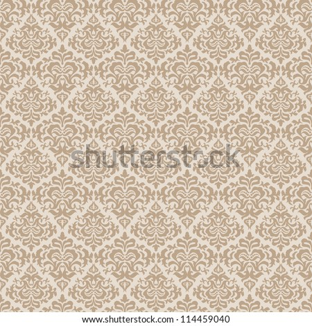 Stylish abstract beige floral wallpaper - stock vector