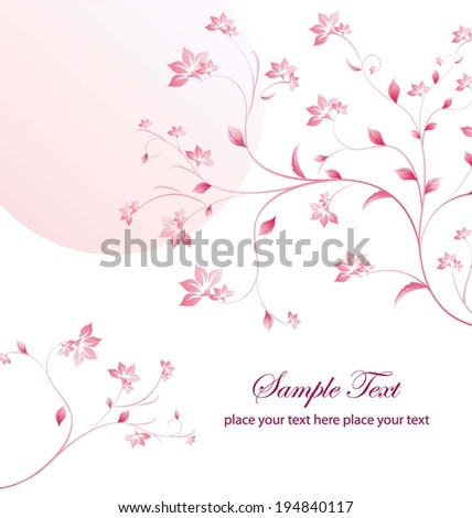 stylish and elegant flower pattern vector