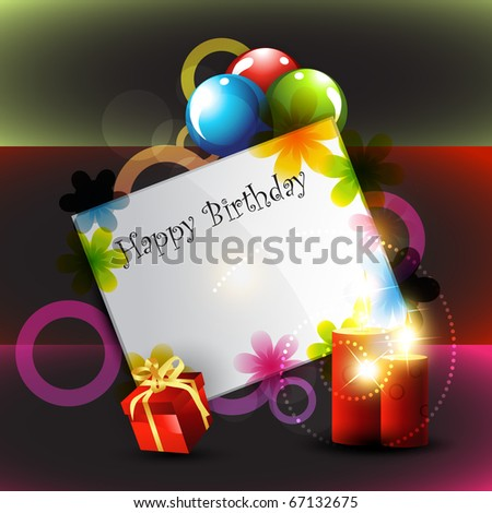 stylish beautiful happy birthday design