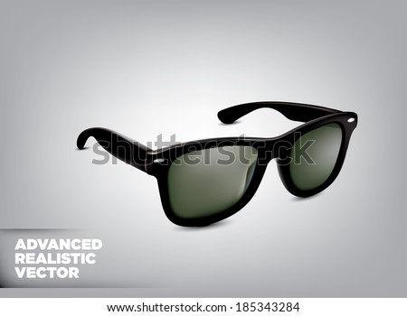 Stylish black sunglasses. Vector illustration   - stock vector