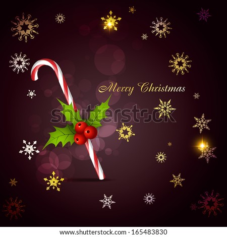 stylish christmas candy cane vector background - stock vector