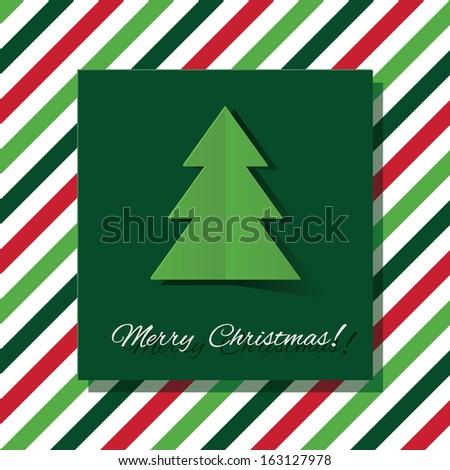 Stylish Christmas card in minimalistic style. Vector illustration. - stock vector