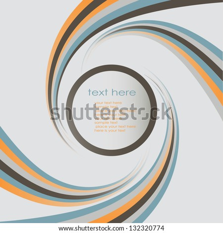 Stylish circular banner template - stock vector