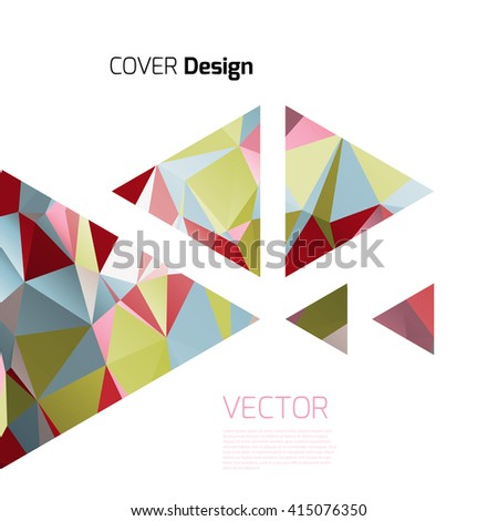 Stylish colorful background with colorful triangles and line. Abstract background texture with geometrical shapes. Abstract background for apps, presentations or corporate use. - stock vector