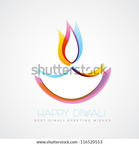 Stylish colorful diwali diya isolated on stock vector for Agal vilakku decoration