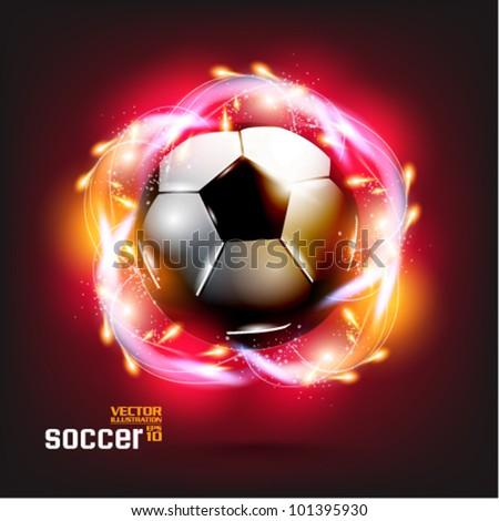 stylish conceptual digital soccer vector design - stock vector