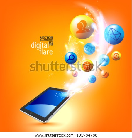 stylish conceptual social network vector design - stock vector
