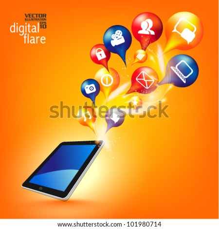 stylish conceptual social networking vector design