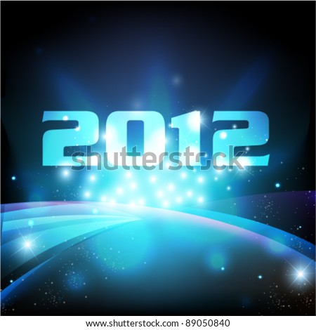 stylish cool 2012 card vector background