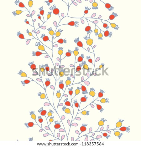 Stylish delicate seamless floral vector pattern - stock vector
