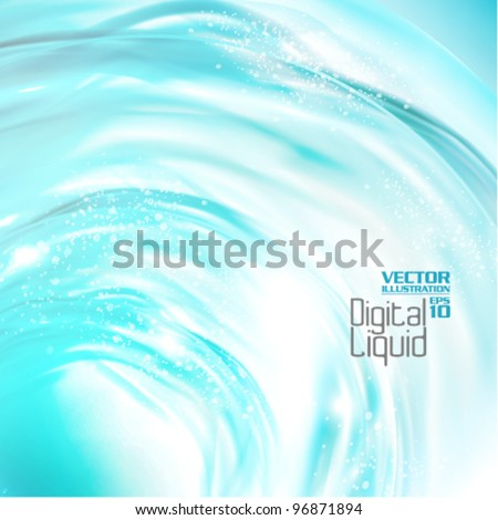 stylish digital flowing liquid design - stock vector