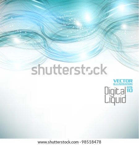 stylish digital flowing liquid design